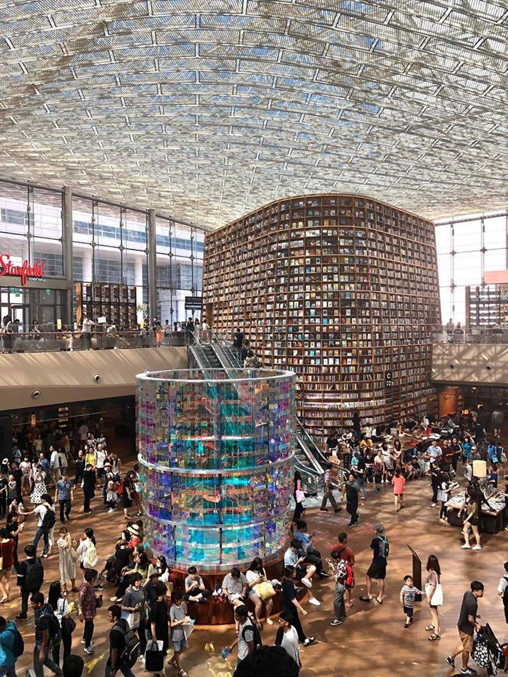 Yurtdışı turları ile Güney Kore seyahati yaparken Seul'de gezilmesi önerilen kültürel mekanlardan biri de Starfield Kütüphanesi'dir.