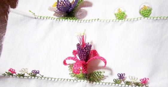 İğne oyası küpe çiçeği nasıl yapılır? Yapılışı ve anlatım burada!