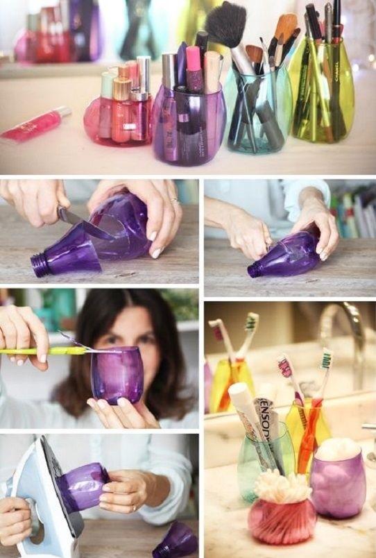 Plastik şişeler ile kalemlik nasıl yapılır? Plastik şişeden kalemlik yapımı ve gerekli malzemeler için resimli anlatımı incele, renkli plastik şişe kalemlik kendin yap!