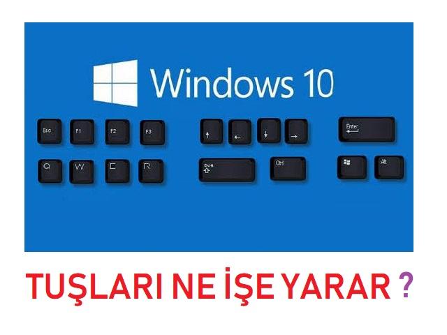 Windows a b c d e g h i k l m n o p r s t u v y z x ve diğer klavye karakterleri ile kısayol tuşları olarak ne işe yarar? Windows tuşu kısayolları nelerdir ve Windows kısayolları nasıl kullanılır?